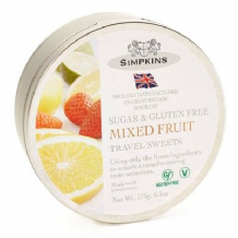 Simpkins Travel Sweets Sugar Free 175g - Mixed Fruit